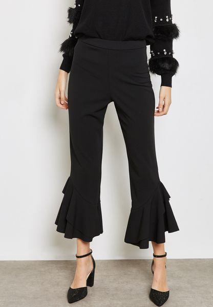 Ruffle Crop Pants
