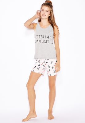 Lounge District Slogan Pyjama Set