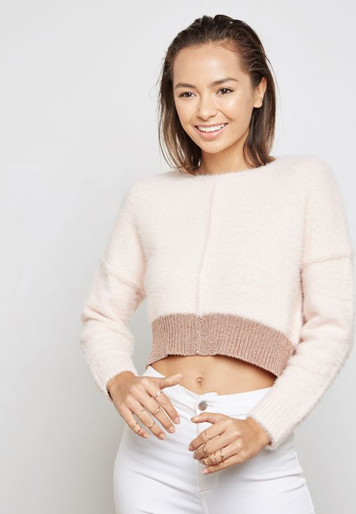 Fluffy Cropped Sweater