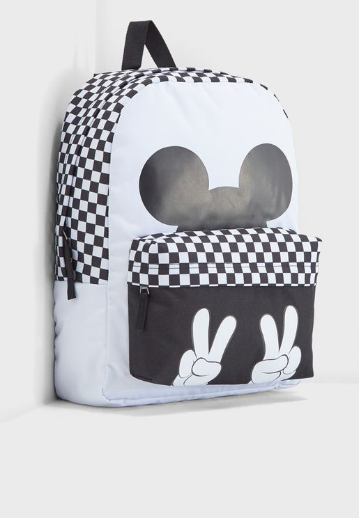 b1b2669a99 Checkerboard Mickey Realm Backpack. Vans