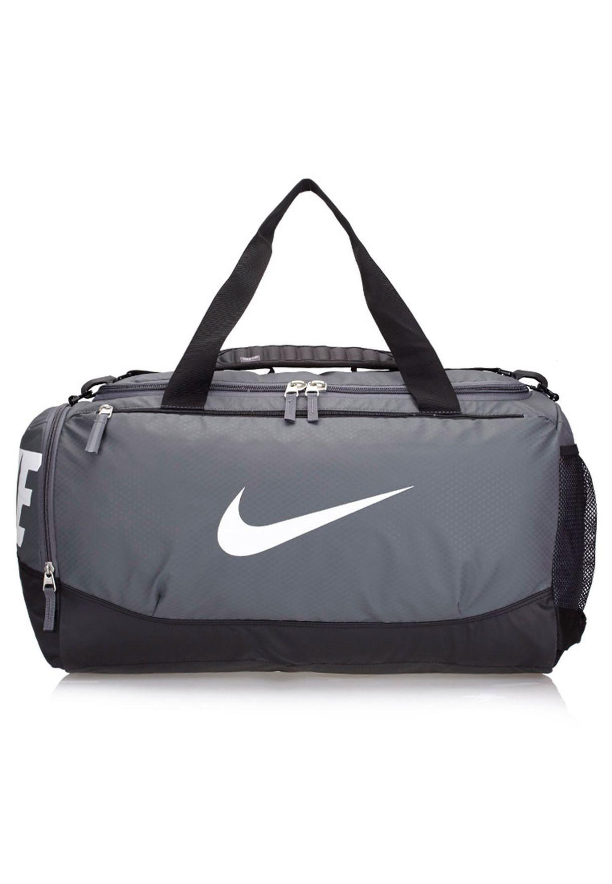 4c82ec12d6 Shop Nike black Medium Team Training Max Air Duffel Bag BA4895-074 ...