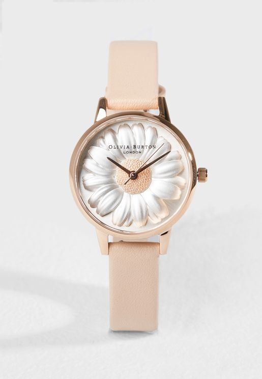 3D Daisy Analog Watch
