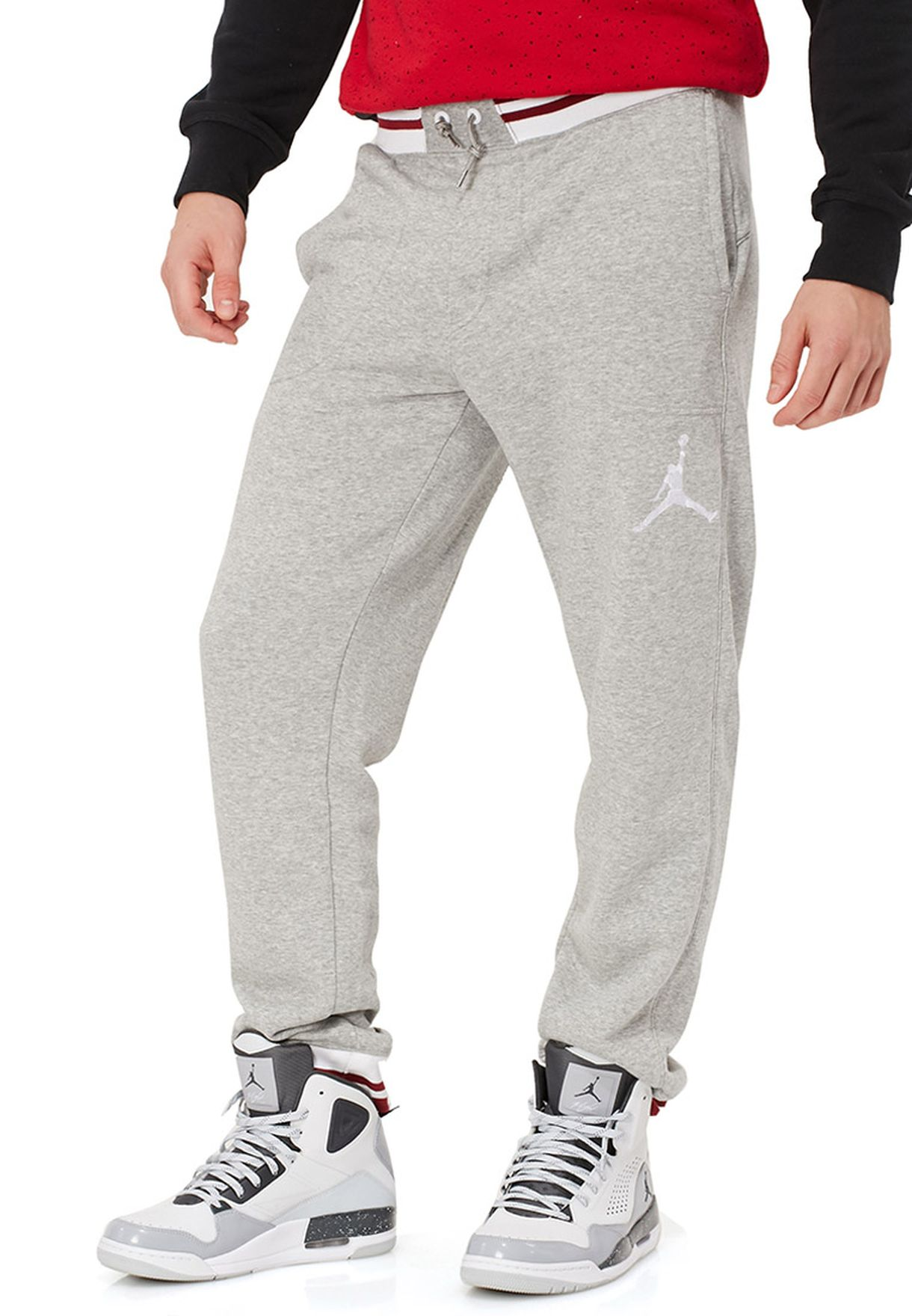 a4caee76abd74e Shop Nike grey Jordan Varsity Sweatpants for Men in Bahrain ...