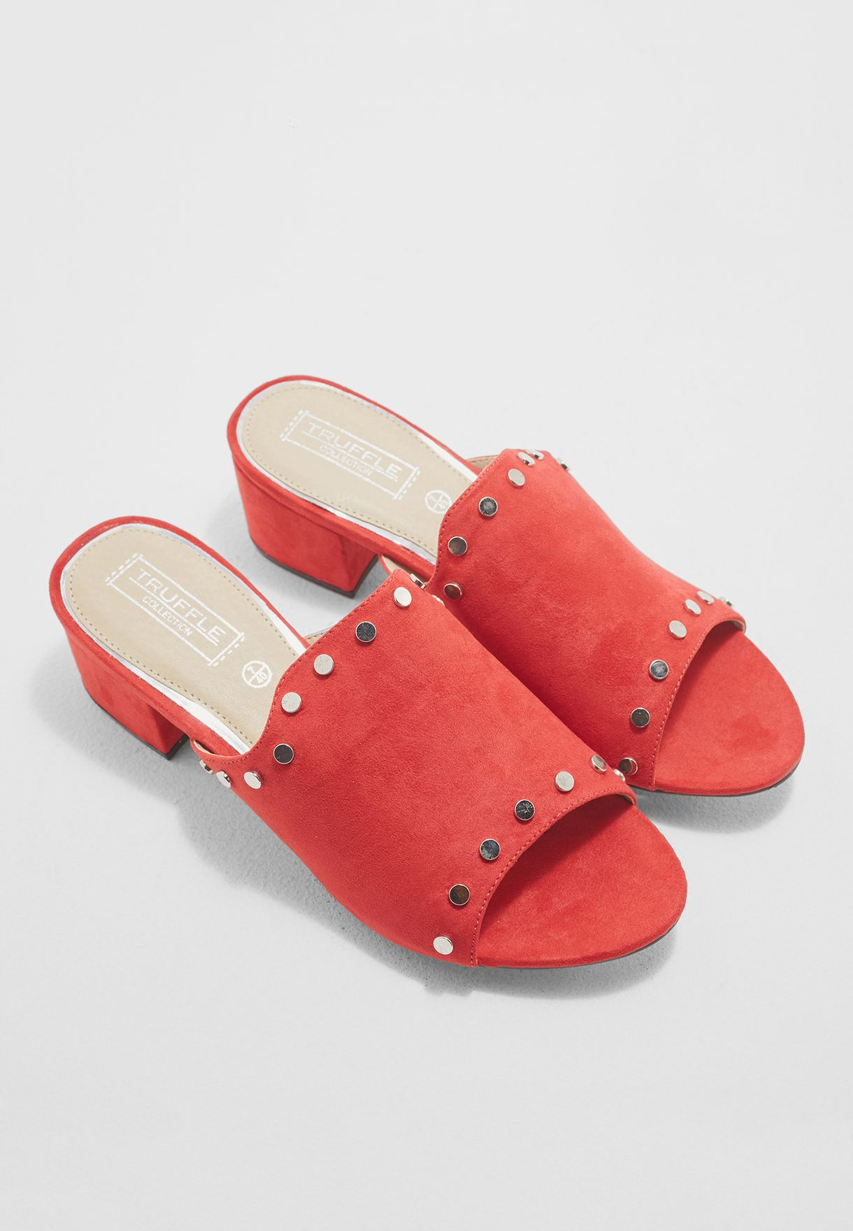 exclusive deals detailing best place Shop Truffle red Mule Sandals ARORA30 for Women in Saudi ...