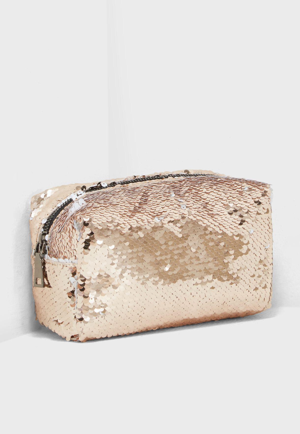 Reversible Sequin Cosmetic Bag