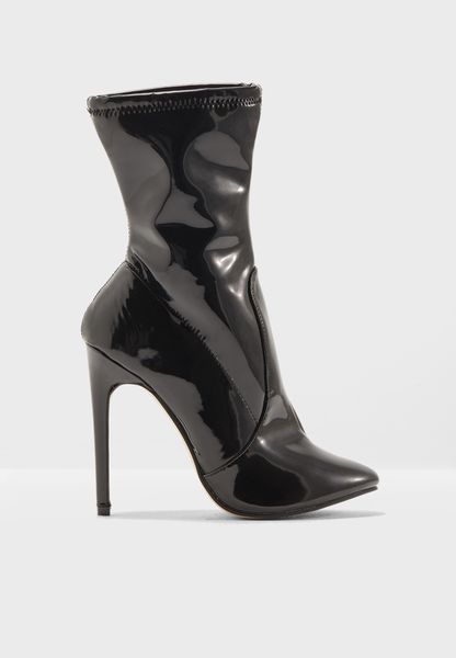 Vinyl Ankle Boot