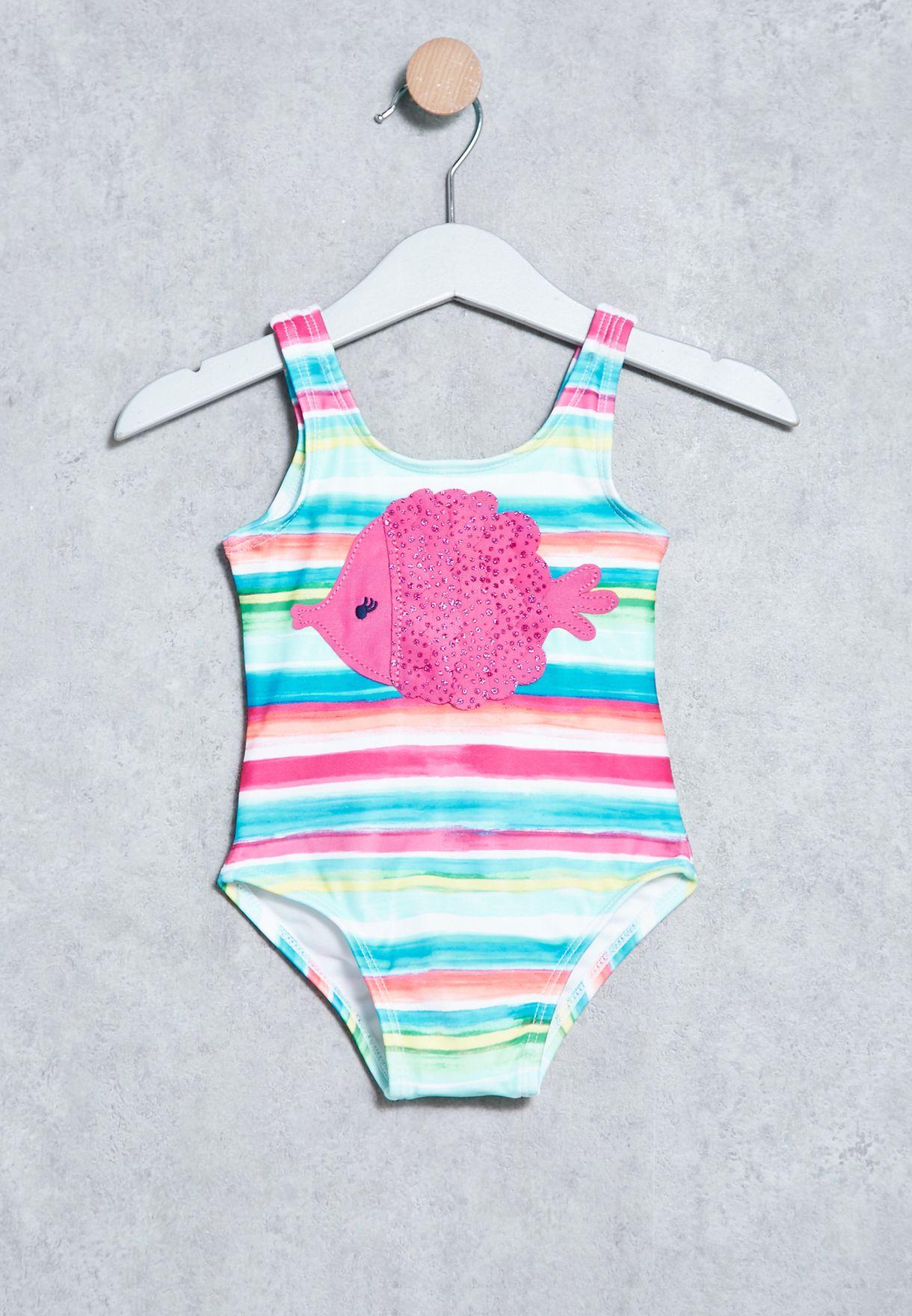 2b814cad894fc Shop Gymboree multicolor Infant Stripe Print Onepiece 140166076 for ...