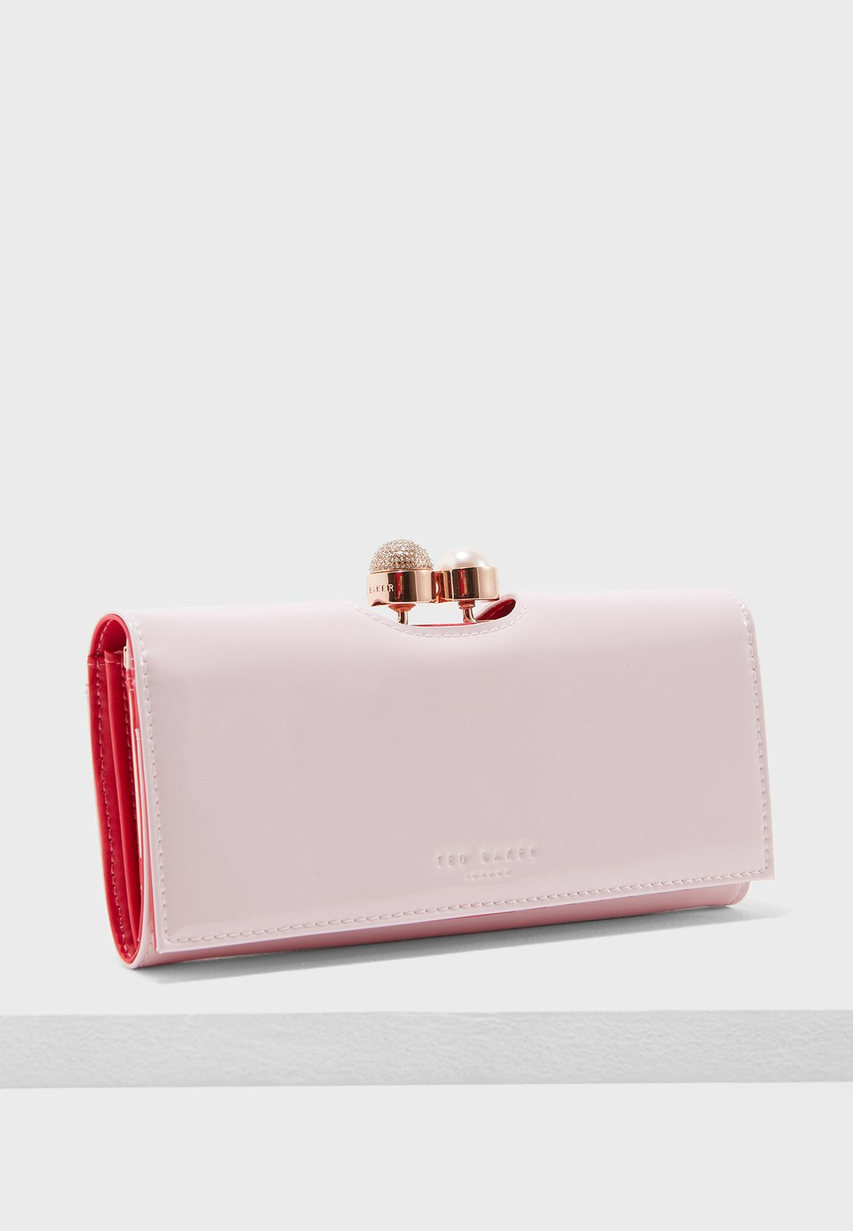 09a5a2b0988 Shop Ted baker pink Crystal Pearl Bobble Matinee Purse 138180XMID ...