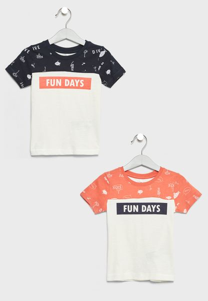 2 Pack Color Block T-Shirts