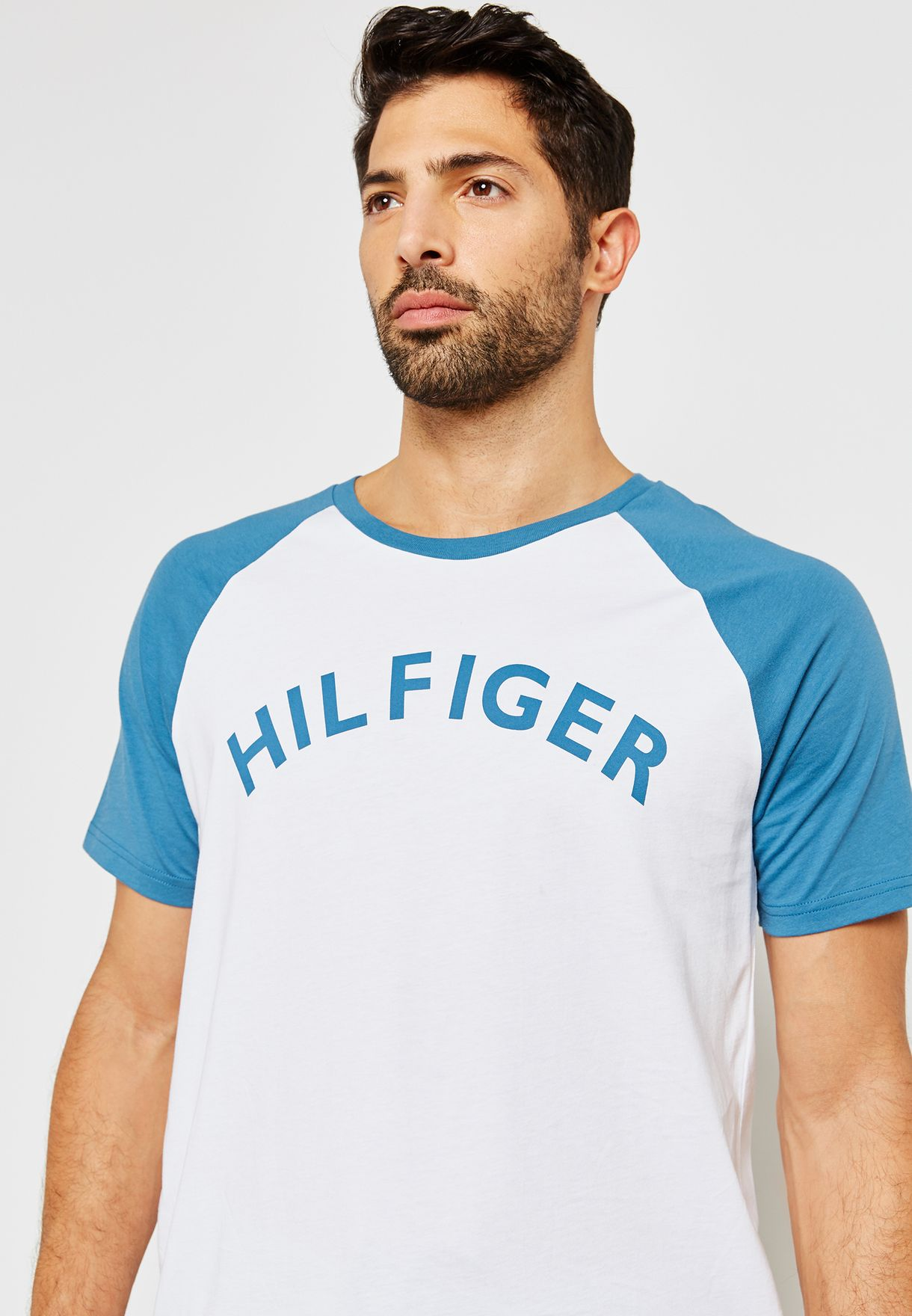 d9b23552 Shop Tommy Hilfiger multicolor Jersey Lounge T-Shirt UM0UM00699 for ...