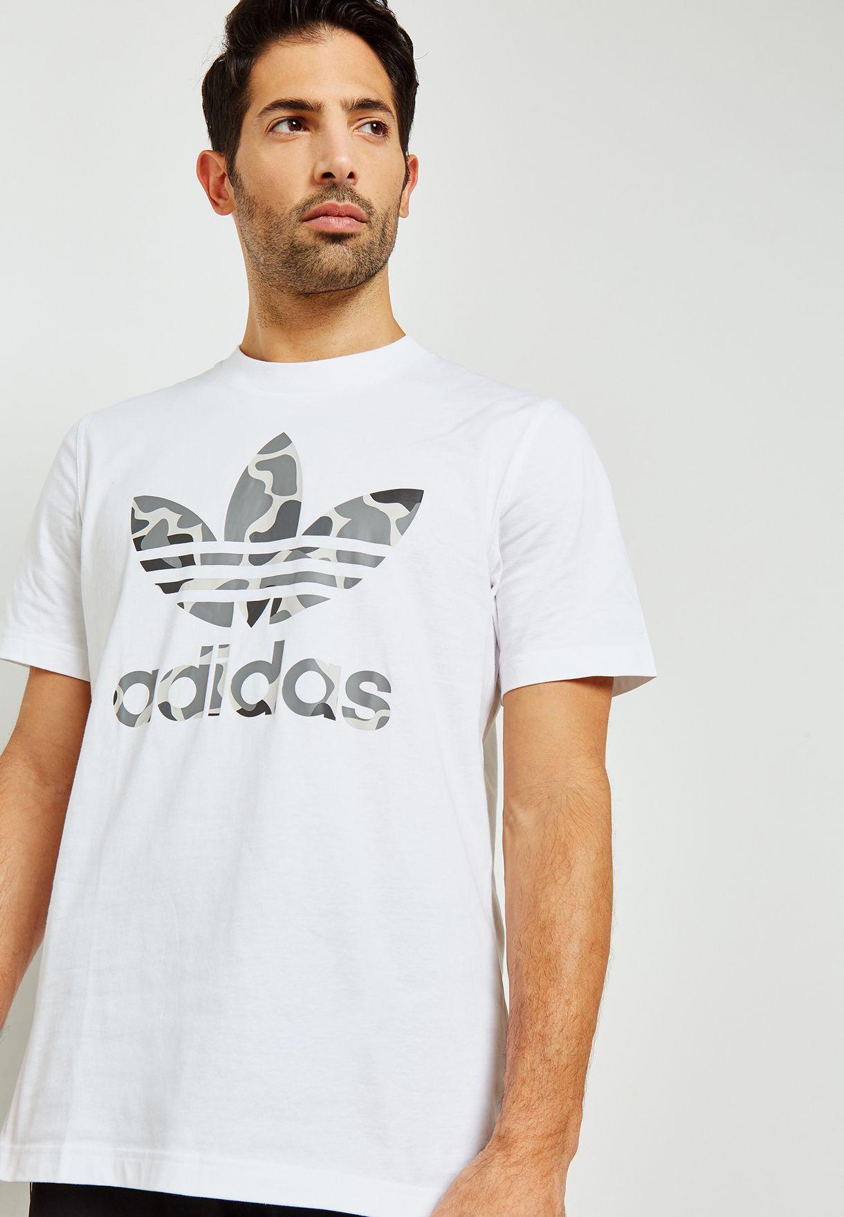 e14bee4e0dac Shop adidas Originals white Camo Trefoil T-Shirt DH4767 for Men in Saudi -  AD478AT20WQT