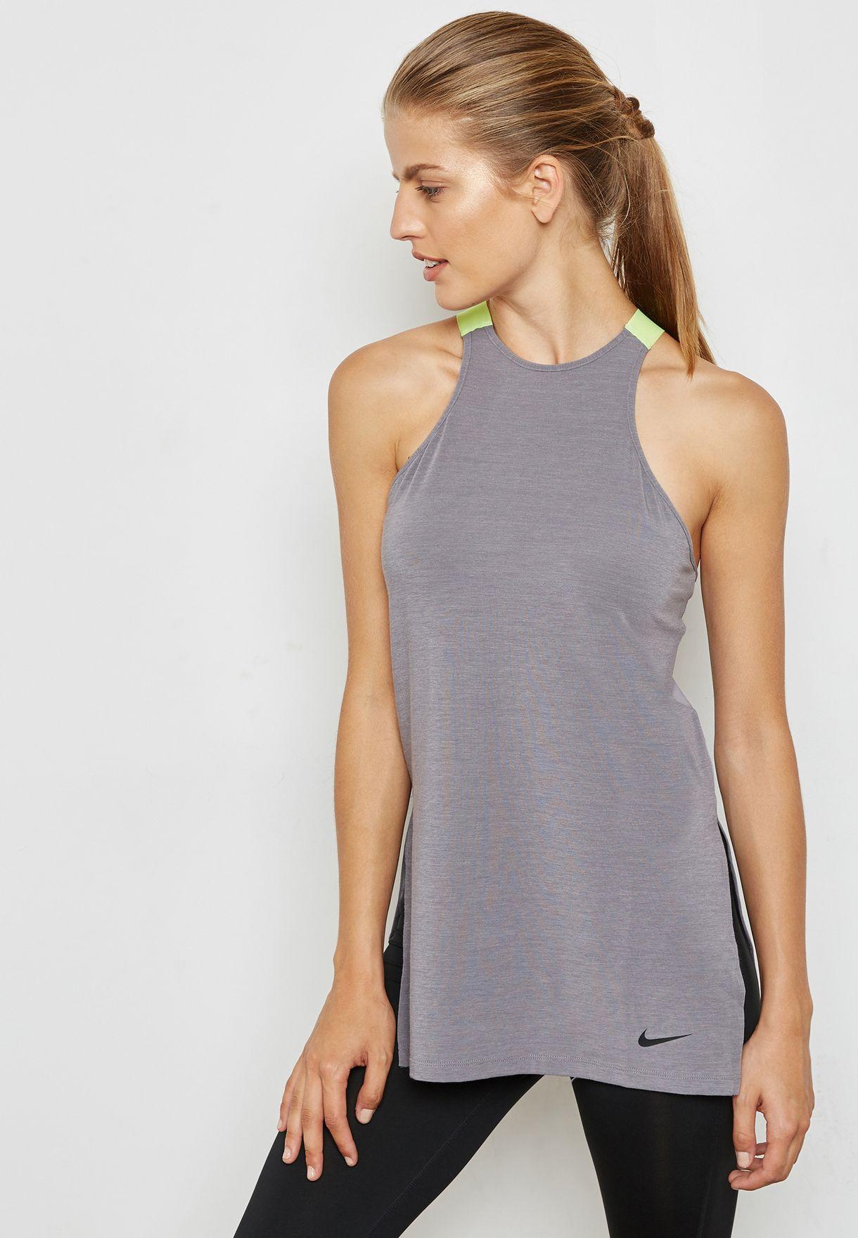 289517cdece105 Shop Nike grey Gym Tank 889028-036 for Women in Saudi - NI727AT20GPN