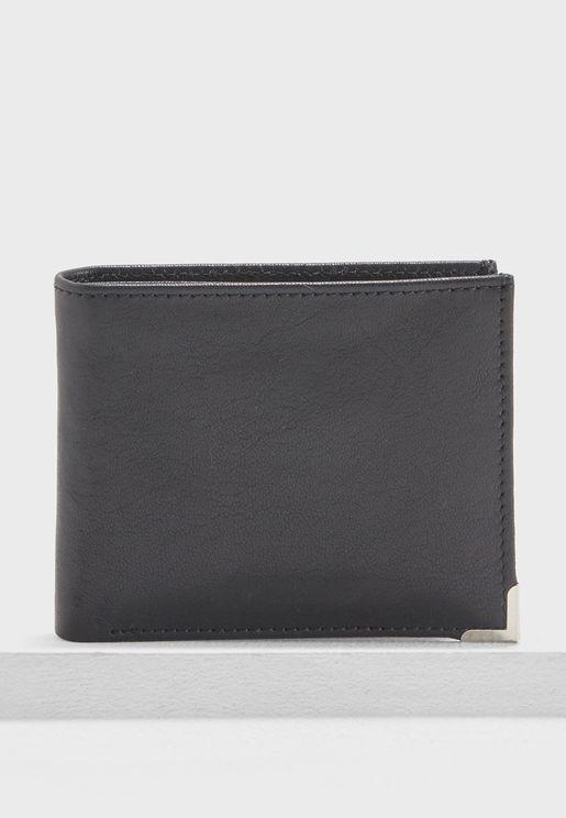 Formal Leather Bi-Fold Wallet
