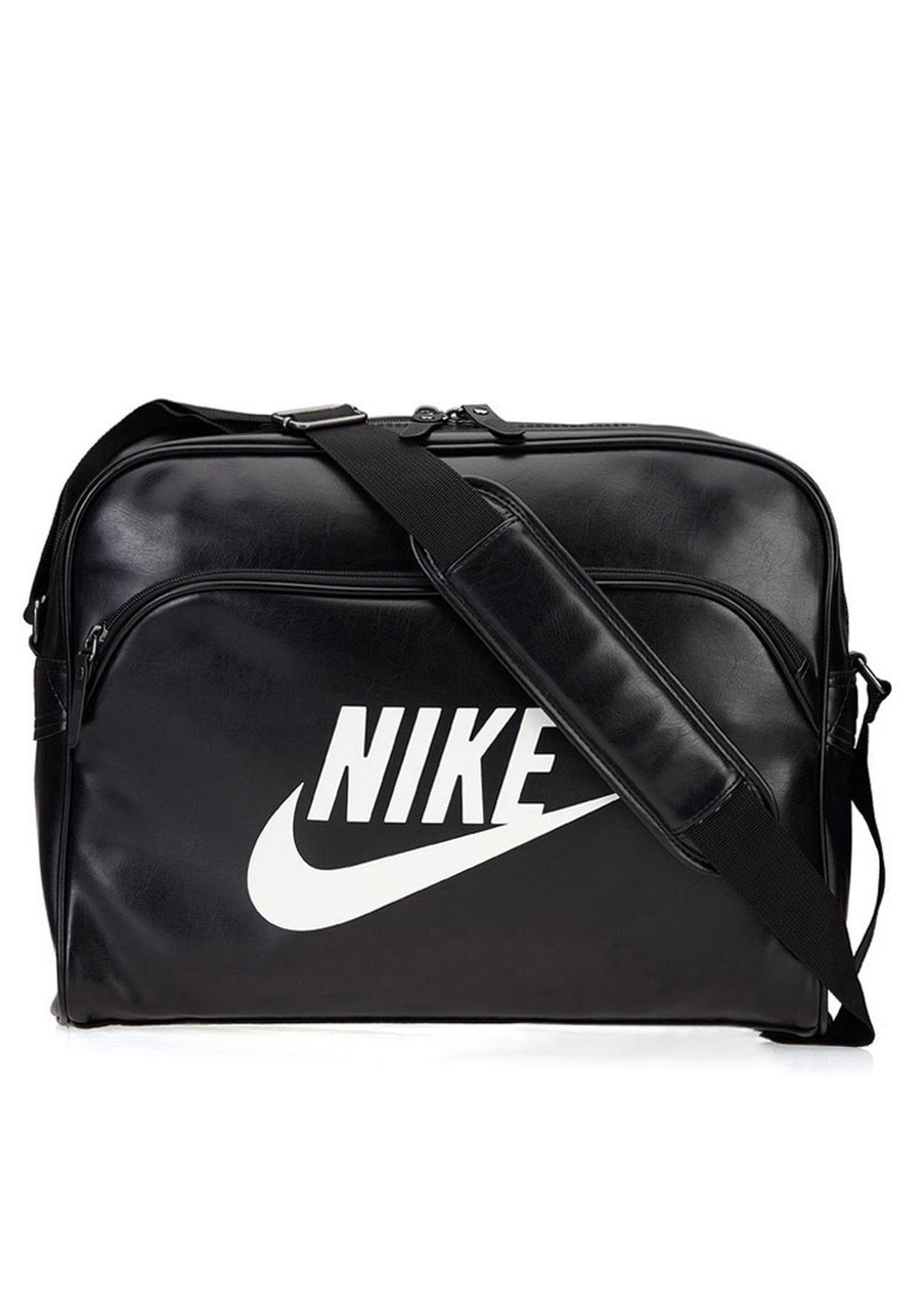 Shop Nike black Heritage Messenger Bag NEQP-BA4271-019 for Men in ... 9e5490340e759