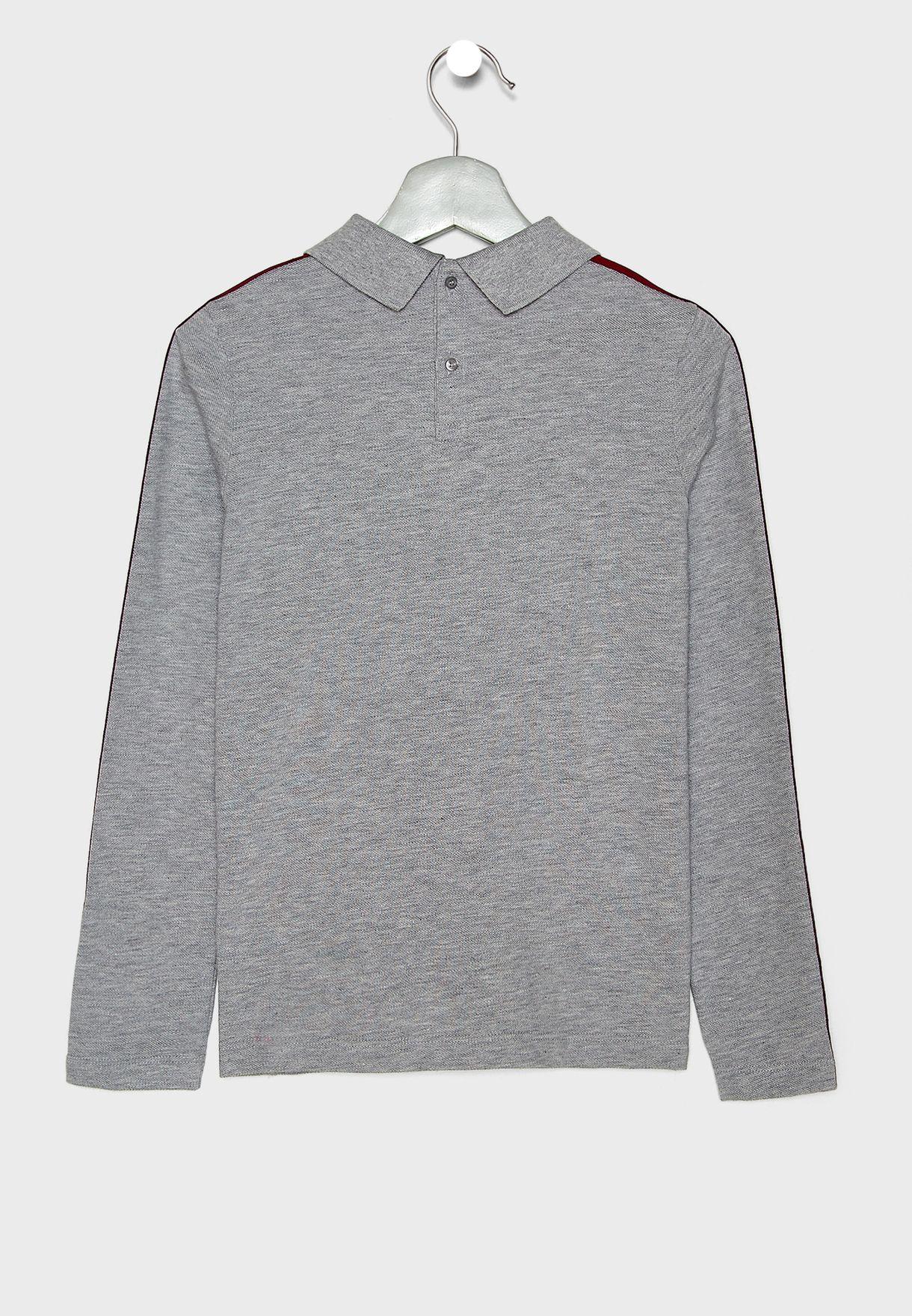 Kids Shoulder Striped T-Shirt