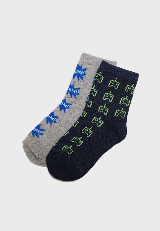 Kids 2 Pack Socks