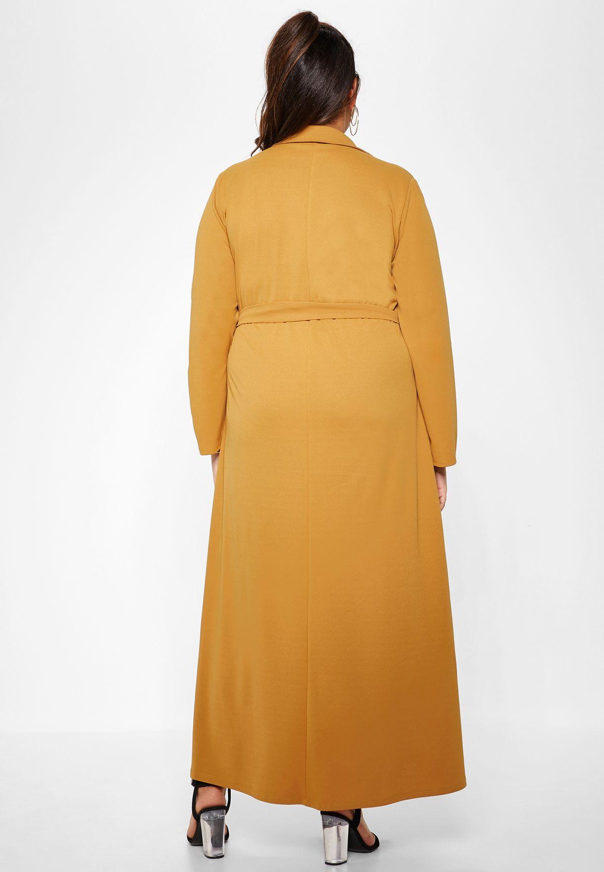 فستان مكسي بأربطة وجيوب