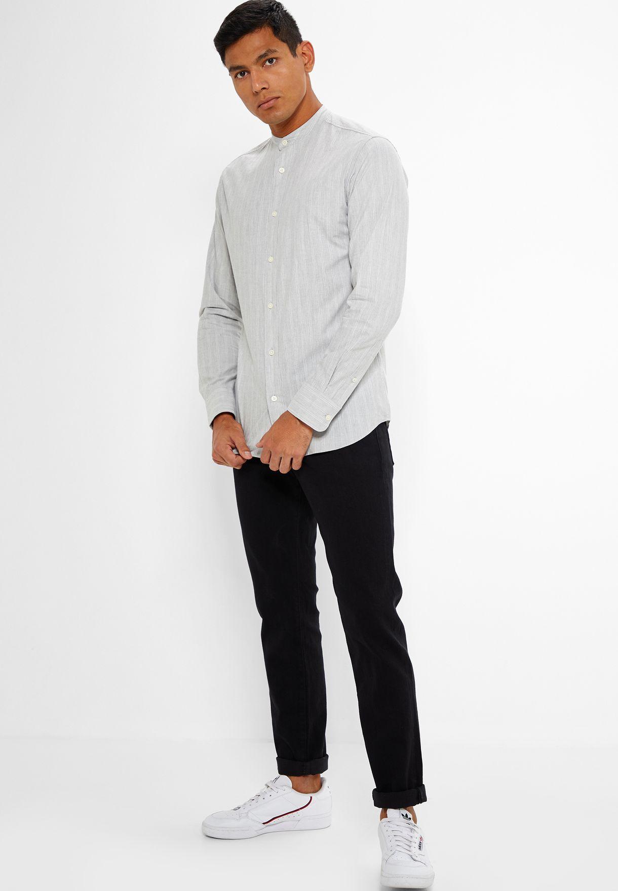 39e99d818d40e Shop Forever 21 black Rinse Wash Slim Fit Jeans 308553 for Men in ...