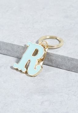 R Alphabet Enamel Keyring