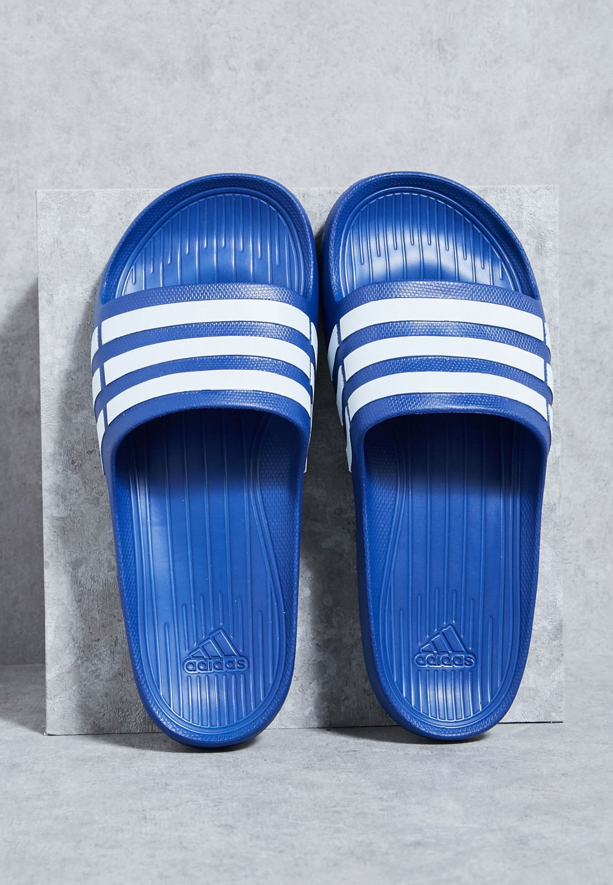 new styles 5a485 363d6 Shop adidas blue Duramo Slide G14309 for Men in UAE - AD476S