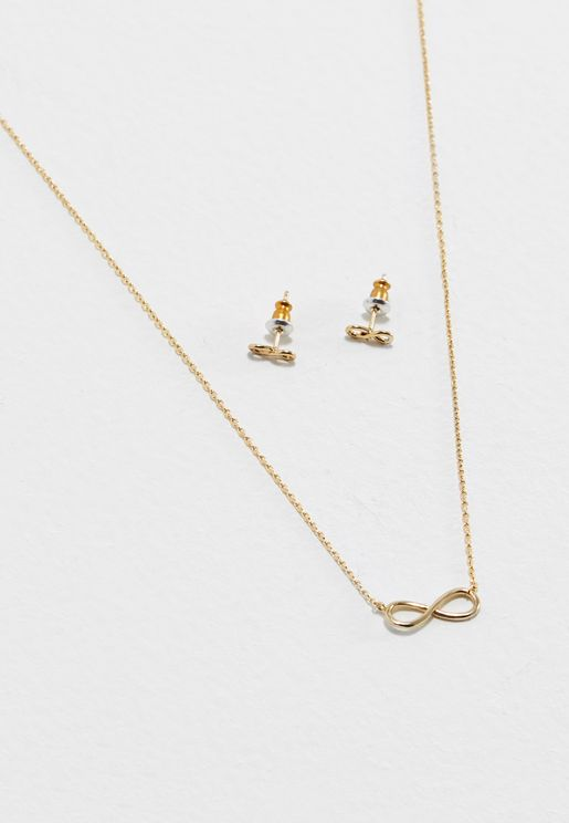 Infinity Earring + Necklace Pack