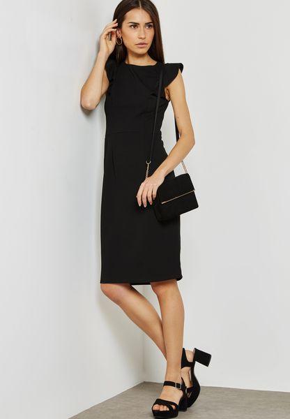 Dorothy Perkins. Ruffle Shoulder Pencil Dress