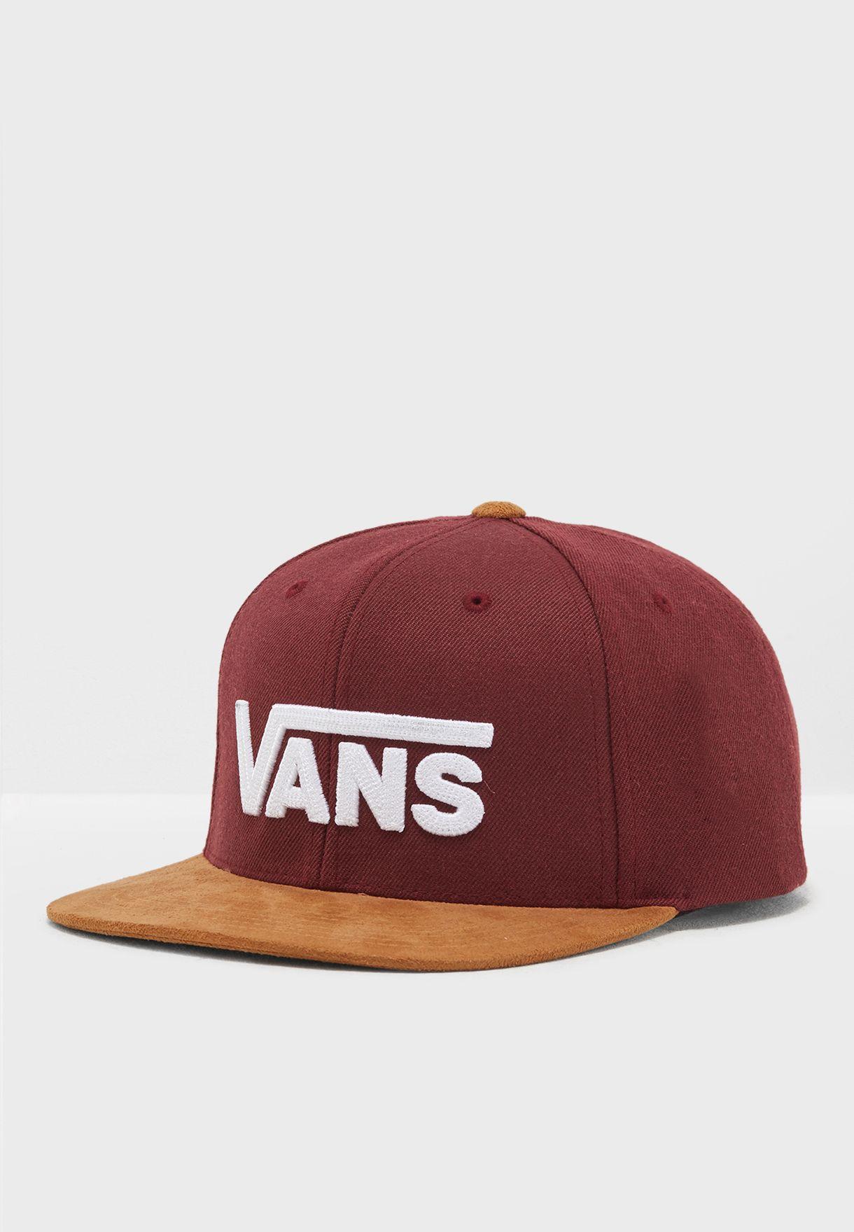 6d6b12a3e4a Shop Vans burgundy Drop V Snapback VA36ORKRJ for Men in UAE ...