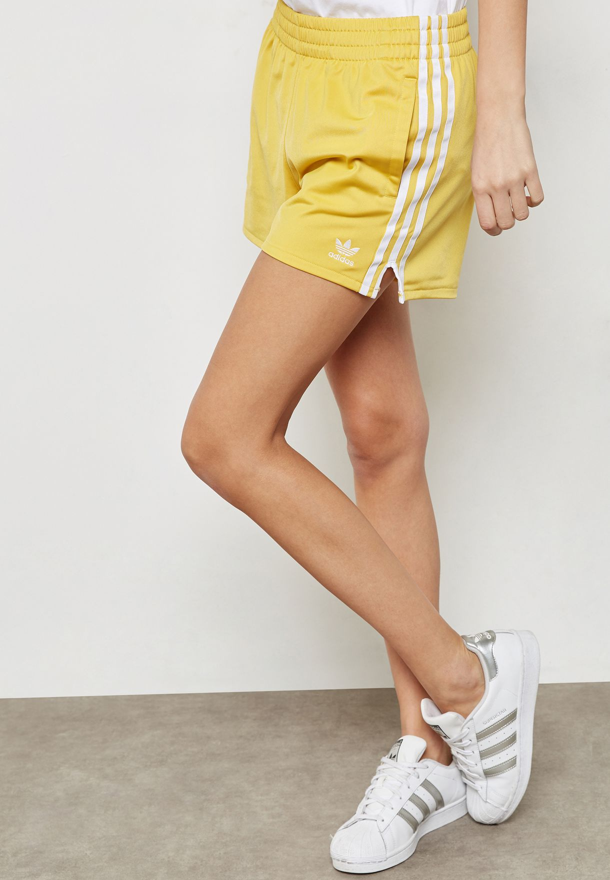 Shop adidas Originals yellow adicolor 3 Stripe Shorts CY4764 for Women in  Qatar - AD478AT10YER e76bef076f