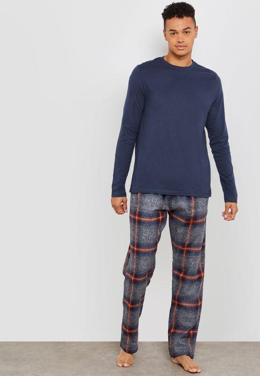 Check Print Cuffed Pyjama