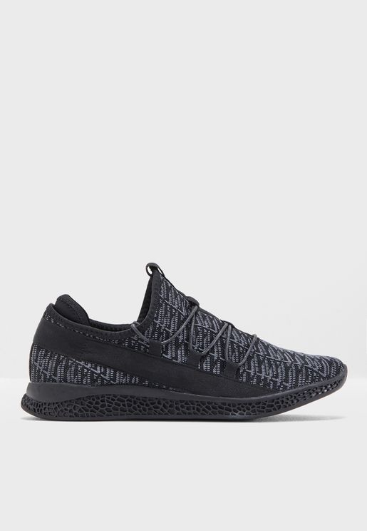 Toggle Lace Knitted Sneakers