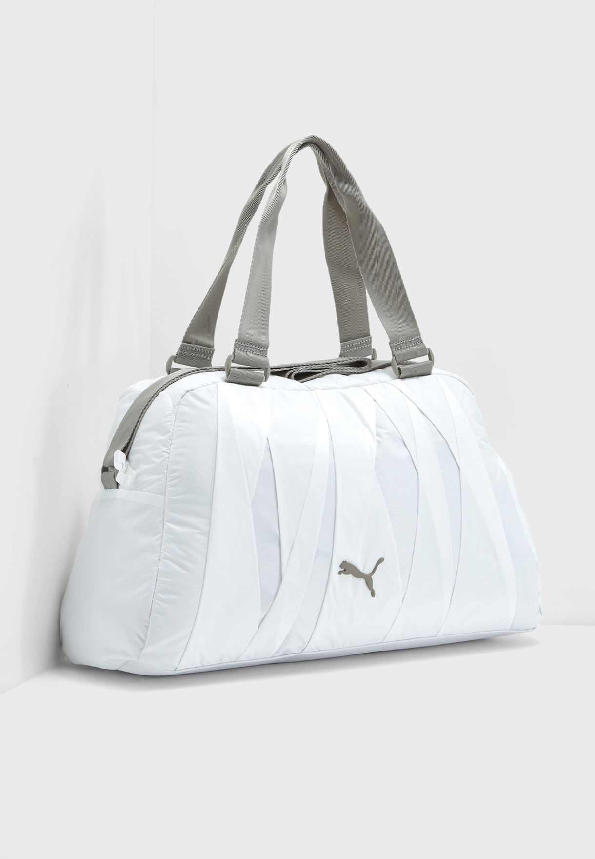 e1107385bfd Shop PUMA white En Pointe Duffle Bag 07527601 for Women in Qatar -  PU020AC10HRT