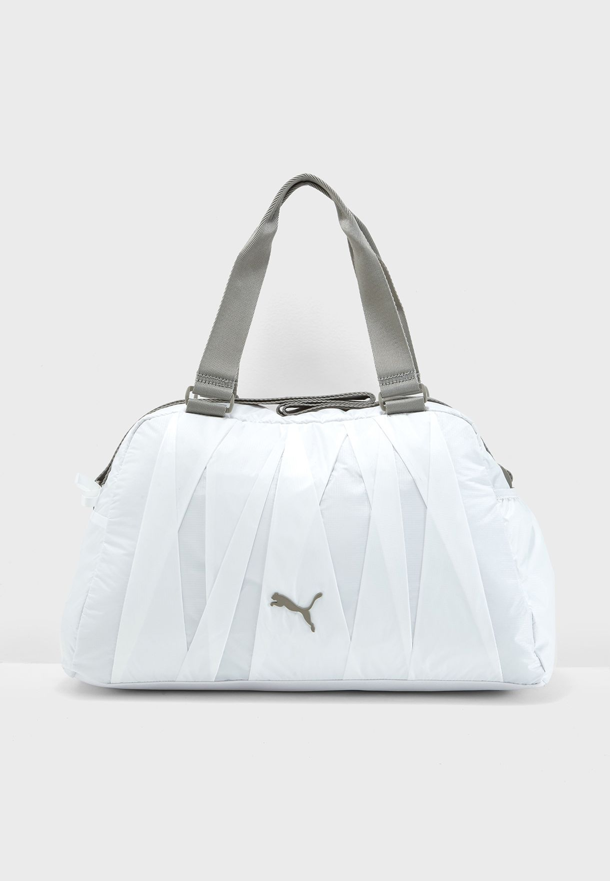 a4ea76506c6 Shop PUMA white En Pointe Duffle Bag 07527601 for Women in ...