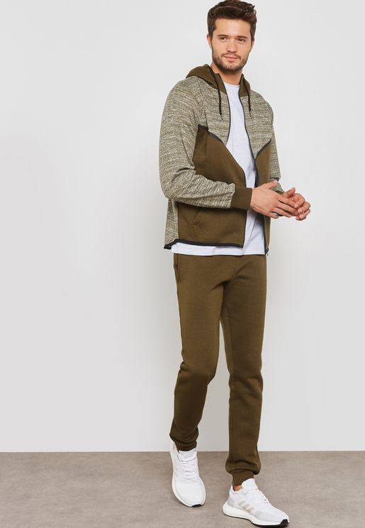 V-Panel Zip Through Hooded Tracksuit