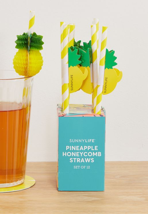 Pineapple Honeycomb Straws