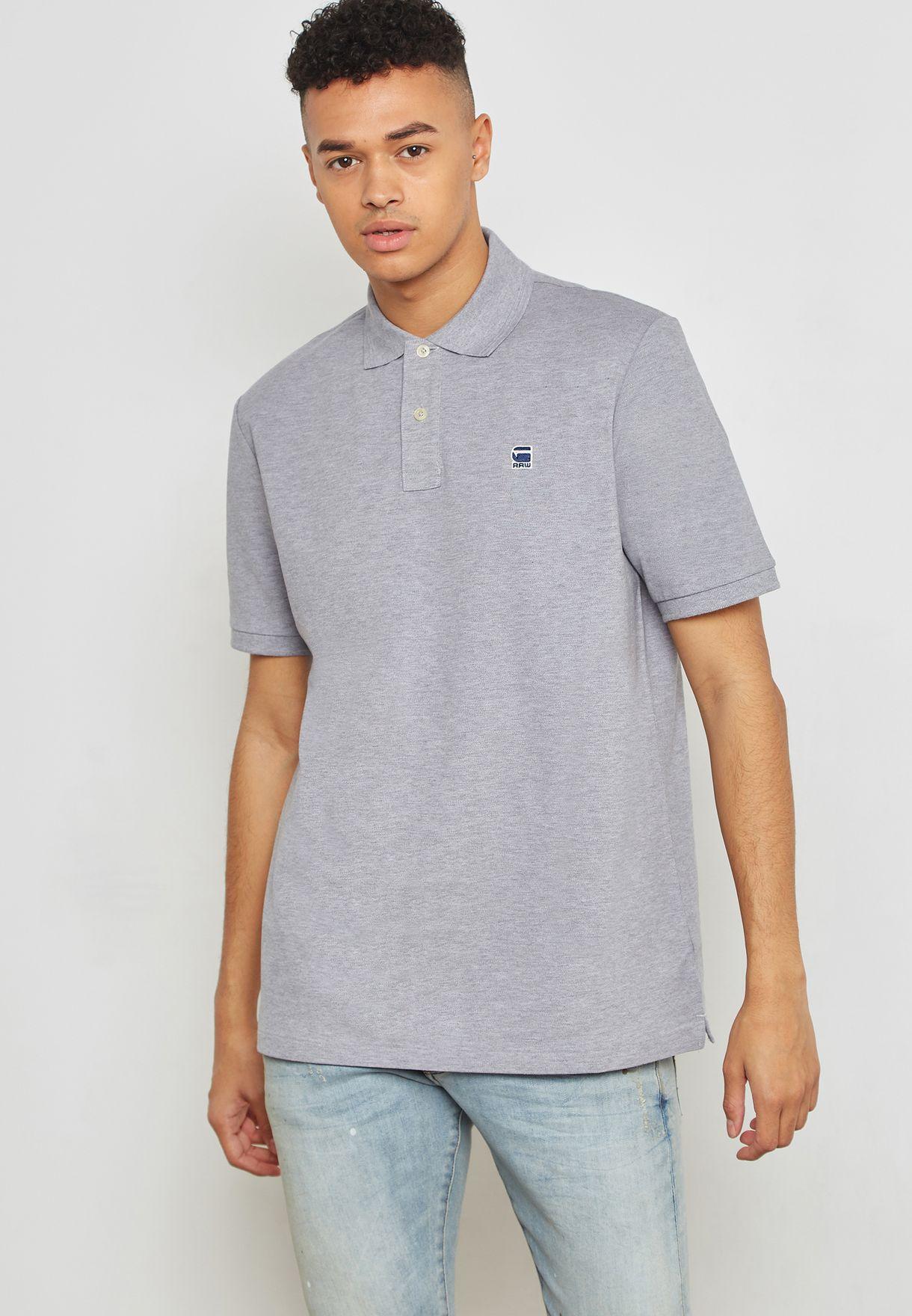 Shop G Star Raw grey Dunda Polo D08513 5864 906 for Men in Oman -  GS734AT10XEN 534cdf06eb3