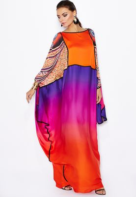 Aanchal Chanda Digital Print Embellished Kaftan