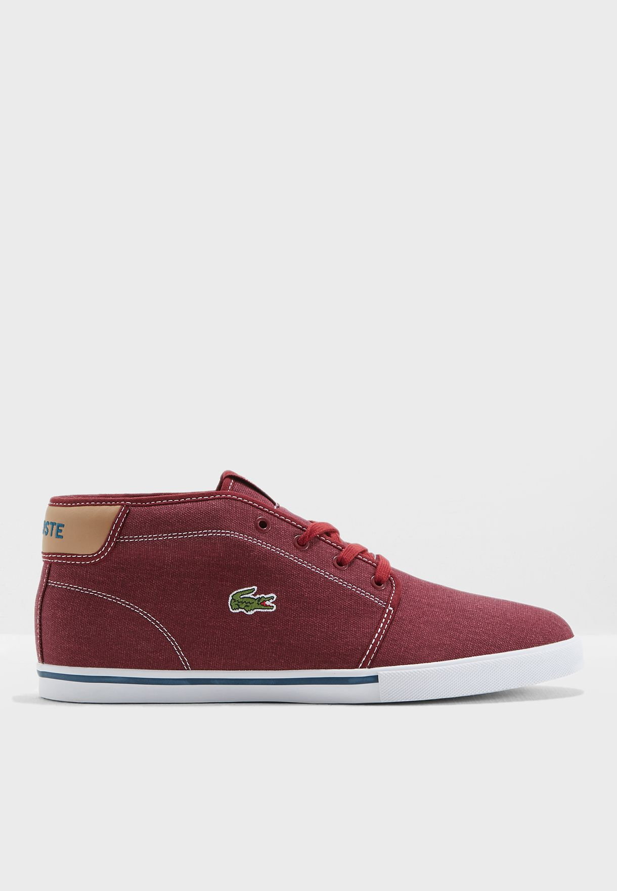 6d4b40d6c Shop Lacoste red Ampthill Sneakers 35CAM0001-RD3 for Men in UAE ...