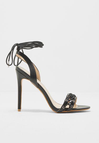 Jayde Pierce Scene Corset Lace Up High Heels