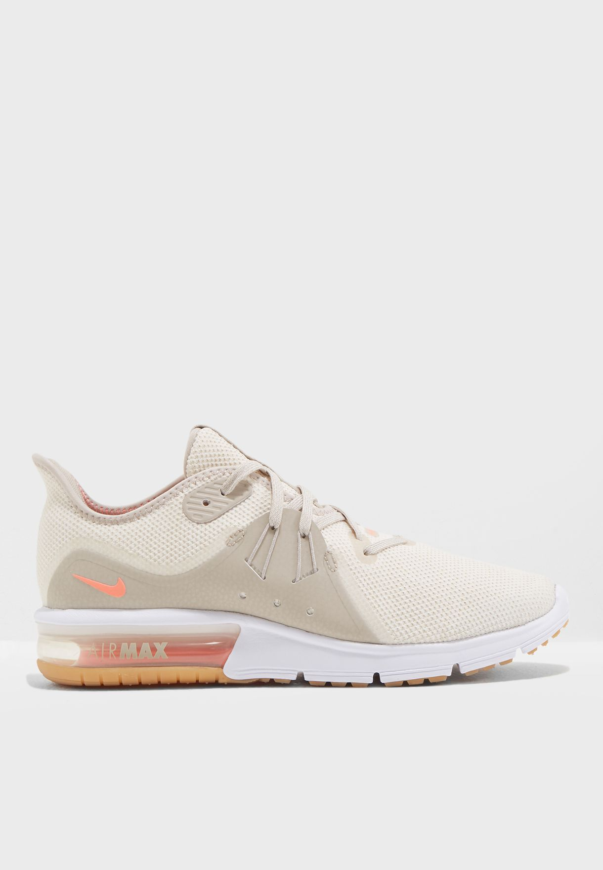 Buy Nike white Air Max Sequent 3 Summer