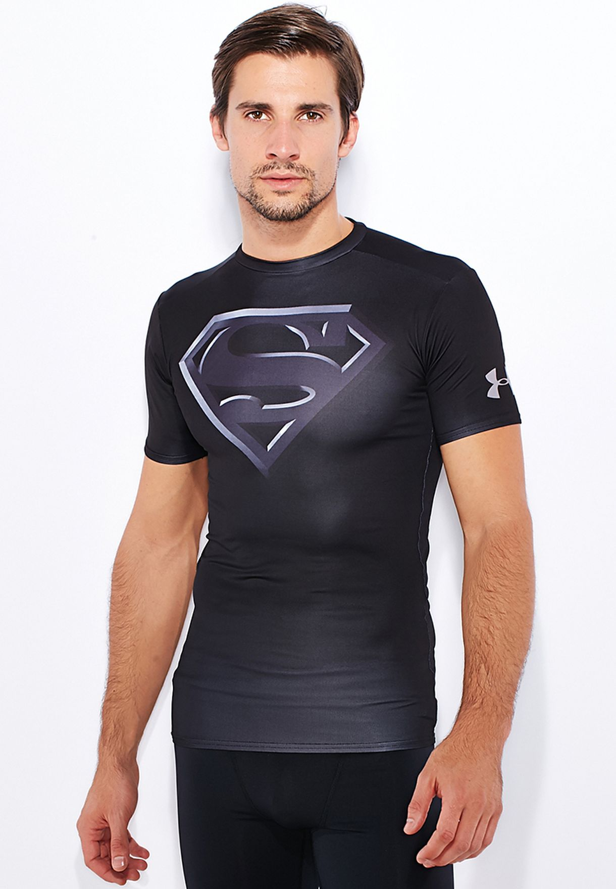 Fast Deliver Under Armour Heatgear Superman Compression Short Sleeve Shirt Mens Blue Size 2xl Fashionable Style; In