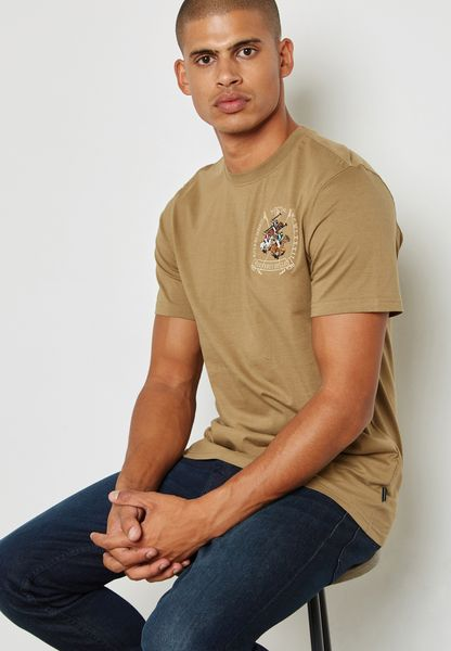 Triple Horse Arch Embroidered T-Shirt