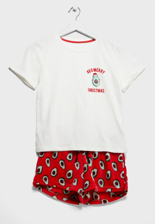 Teen Christmas T-Shirt + Shorts Set