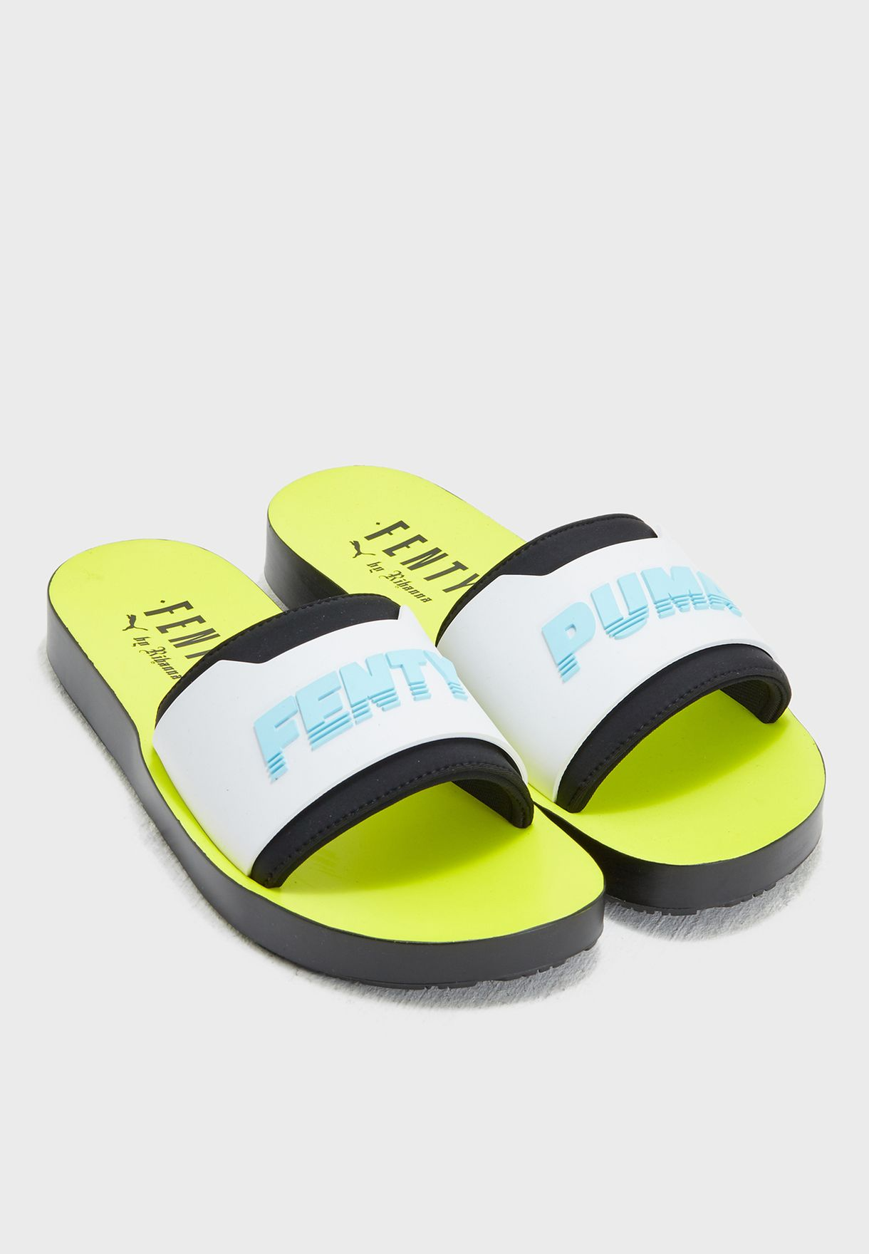 e6d508cf5d5d96 Shop PUMA x Fenty white Surf Slide 36774702 for Women in UAE ...