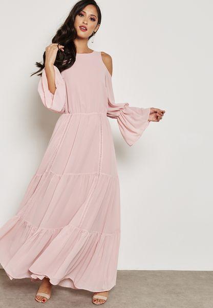 Cold Shoulder Frill Dress