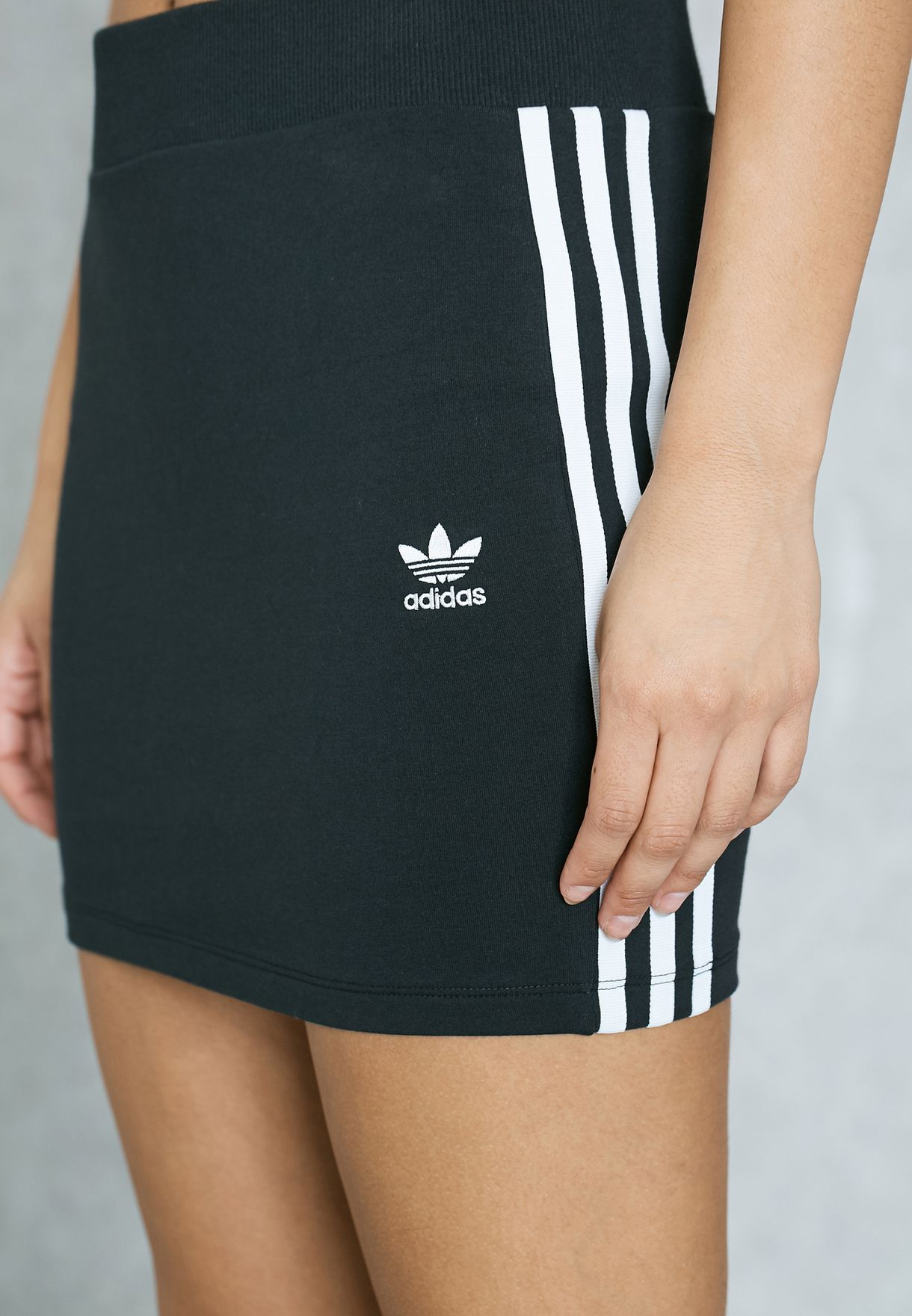 bd6f95904 Shop adidas Originals black 3 Stripe Skirt BK0015 for Women in UAE ...