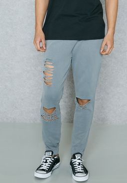 Washed Ripped Sweatpants