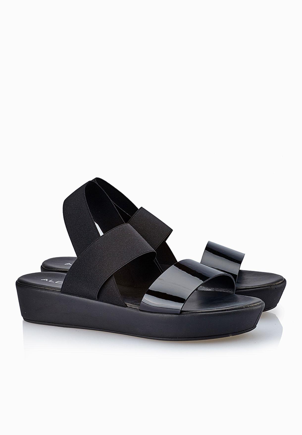 3ce313423208 Shop Aldo black Zirawiel Wide Strap Sandals for Women in UAE ...