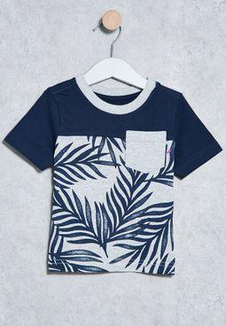 Kids Leaf Print T-Shirt