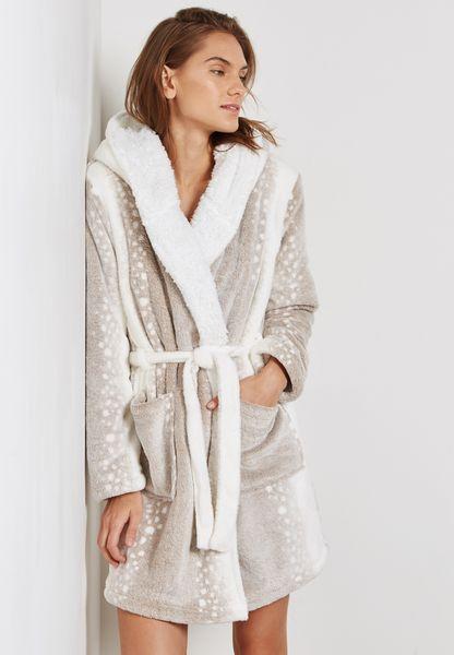 Snow Leopard Robe