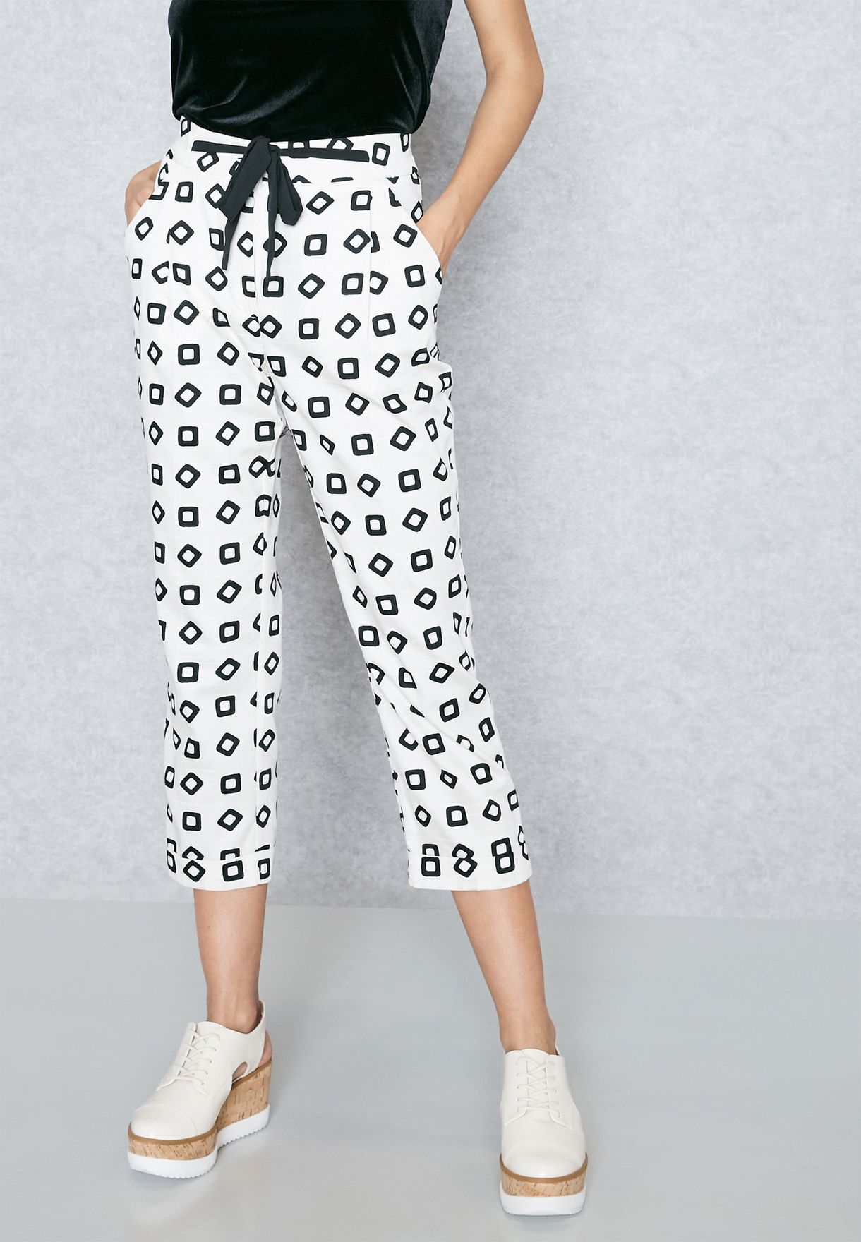 Beatrice B Womens Patterned Pant